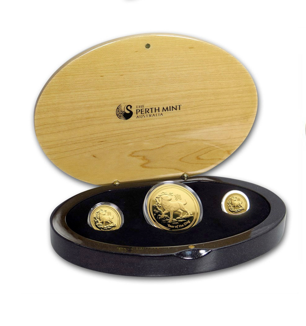 LUnarne mince zlato Pes
